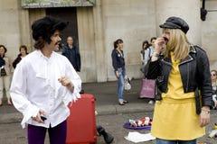 Londen - September 11. De entertainer van de straat in Inham Stock Fotografie