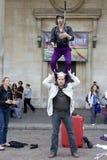Londen - September 11. De entertainer van de straat in Inham Royalty-vrije Stock Foto's