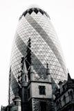 LONDEN - SEPTEMBER 21: 30 St Mary Axe, Zwitsers aangaande, Augurk Stock Afbeelding