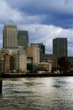 Londen - stormachtige wolken Stock Foto
