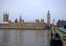 Londen, Theems en Big Ben Royalty-vrije Stock Foto