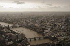 Londen tijdens Ophelia Storm stock foto's