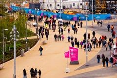 Londen treft voorbereidingen: Olympische testgebeurtenissen Stock Afbeelding
