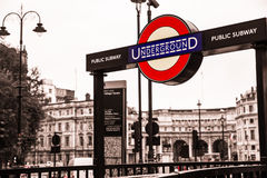 Londen Underground Stock Photography