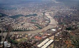 Londen van de lucht, die het Oosten kijkt Royalty-vrije Stock Afbeelding