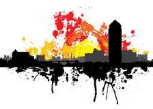 Londen van Grunge scène Stock Afbeeldingen