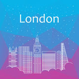 Londen voor banner, affiche, illustratie, spel, achtergrond Royalty-vrije Stock Afbeelding