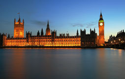 Londen, Westminster en de Big Ben Stock Afbeeldingen