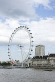 London Eye and river Thames, United Kingdom Stock Photo