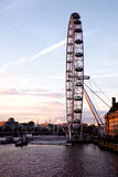 London öga från den Westminster bron Fotografering för Bildbyråer
