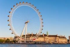 London öga i eftermiddagsol Fotografering för Bildbyråer