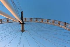London öga i Waterloo, London - Februari 15th av 2015: Denna är tredjedelen - det största ferrishjulet lite varstans världen Arkivbild