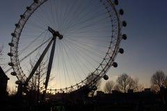 London öga i Waterloo, London - Februari 15th av 2015: Denna är tredjedelen - det största ferrishjulet lite varstans världen Royaltyfri Fotografi