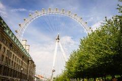 London öga, London, England, UK royaltyfri bild