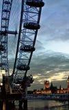 London öga på natten, Londo, England Arkivbilder