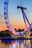 London öga, UK. Royaltyfria Foton