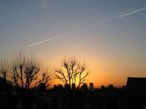 london över soluppgång Arkivfoton