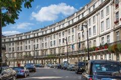 london Великобритания Жилая ария Belgravia Роскошное свойство в центре Лондона Строка периодических зданий стоковое изображение