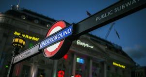 london подземный Стоковые Фото