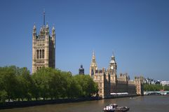London. Places in London - Houses of Parliament Royalty Free Stock Photos