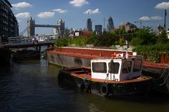 London. Places in London - Thames River Royalty Free Stock Photos