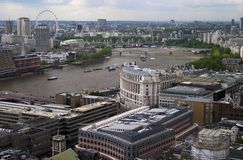 London. From above Royalty Free Stock Photo