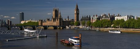 London. Places in London - Thames River Stock Images
