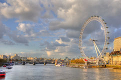 London. The Eye of London on the shore of the river Thames, London, England Royalty Free Stock Image