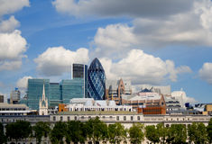 London. Wide London Skyline View, beautiful Stock Photo