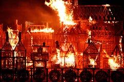 London 1666_ 2016 Fire Stock Photo