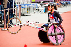 London 2012: athlete on wheelchair Royalty Free Stock Photos