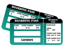 London 2012 boarding passes Stock Photos