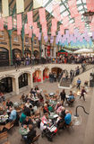 London 2012, Covent Garden. Cafes and shops Royalty Free Stock Image