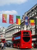London 2012: flags in Oxford Street Royalty Free Stock Images