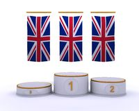 London 2012 olympic championship podium. 3d render of london 2012 olympic championship podium Stock Photo