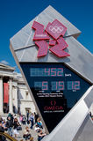 London 2012 Olympic Countdown Clock. The official Olympic countdown clock to London 2012 in Trafalgar Square. 452 days left stock photography
