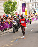 London 2012 Olympic Marathon winner. London, 12 August, 2012: Uganda's long distance runner Stephen Kiprotich heads towards the first place of the London 2012 Stock Images
