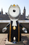 London 2012 Olympic Mascot. With the Houses of Parliament in the background Stock Photos