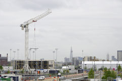 The London 2012 olympic park under construction Stock Photos