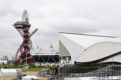 The London 2012 olympic park under construction Royalty Free Stock Photo