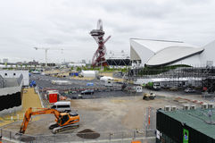 The London 2012 olympic park under construction Royalty Free Stock Image