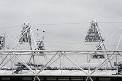 The London 2012 olympic park under construction Royalty Free Stock Images