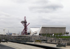 The London 2012 olympic park under construction Stock Photography