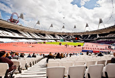 London 2012: olympic stadium. The Olympic Stadium during the Visa London Disability Athletics Challenge in London on May 8, 2012. The event is part of the London Stock Photo
