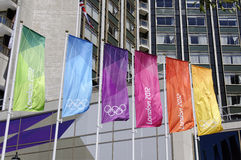 London 2012 Olympics flags in London Stock Photo