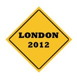 London 2012 road sign. London 2012 Olympic games road sign isolated on white background Royalty Free Illustration