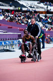 London 2012 test events: injured athlete Stock Image