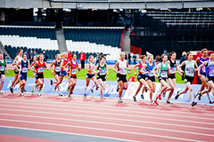 London 2012 test events: women's 3000m Royalty Free Stock Images