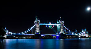 London  2012, Tower Bridge. With Olympic rings Stock Photo