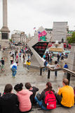 London 2012, Trafalgar square. During the Olympic summer Royalty Free Stock Images
